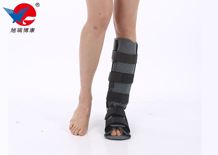 Aluminum Alloy Medical Ankle Support Boots Two External Straps Wrap To Enhance Stability