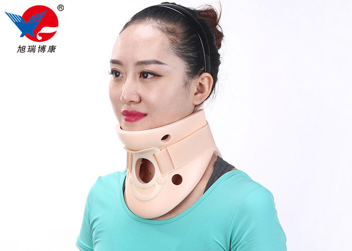 Adult Adjustable Cervical Collar Neck Brace , Pink Color Soft Foam Cervical Collar