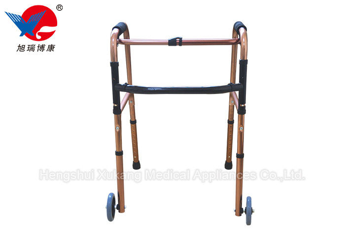 Easy Operation 4 Leg Crutches With Casters Train Walking And Enhance Muscle Strength