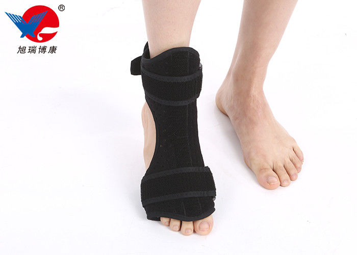 Easy Wearing Ankle Support Brace , Flannelette And Sponge Ankle Strap Support