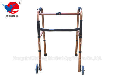 China Easy Operation 4 Leg Crutches With Casters Train Walking And Enhance Muscle Strength distributor