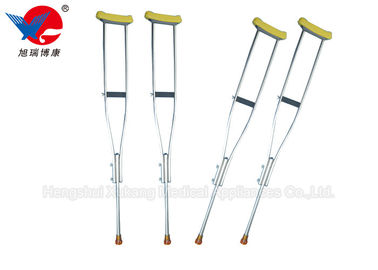China Safety Convenient Medical Walking Crutches , Aluminum Alloy Weight Bearing Crutches distributor