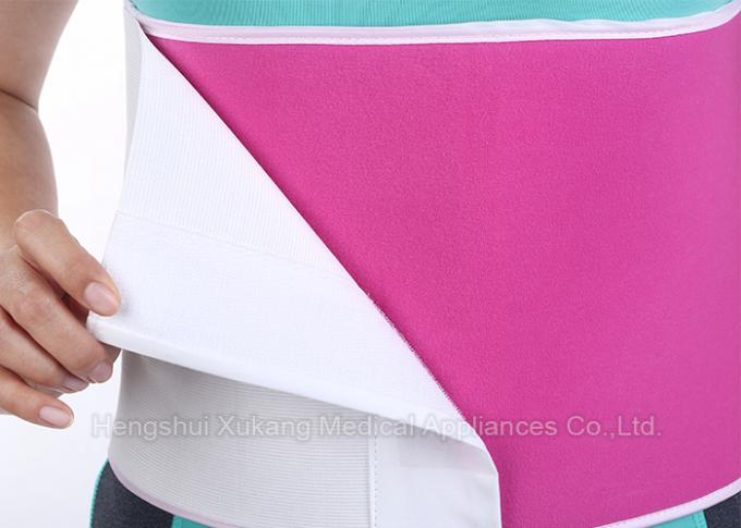 White And Pink Abdominal Support Brace With Strong Thermal Insulation Function