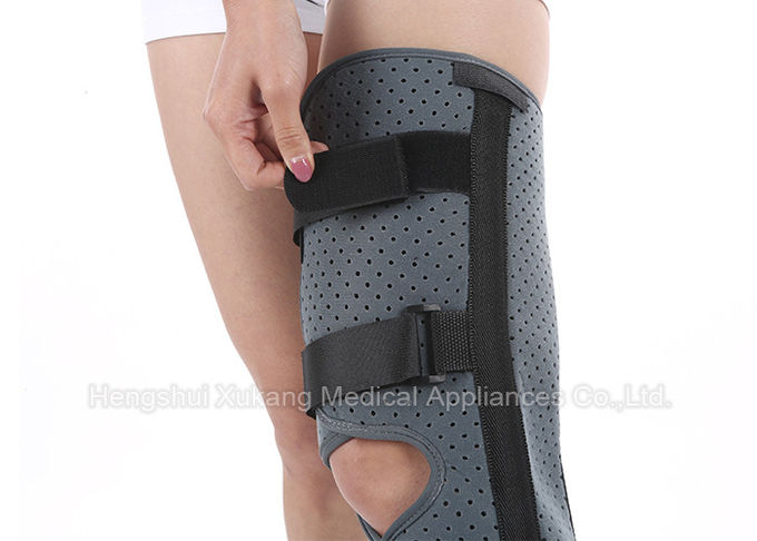Aluminum Alloy Adjustable Knee Support Two - Sided Brushed Nylon Better Immobilization