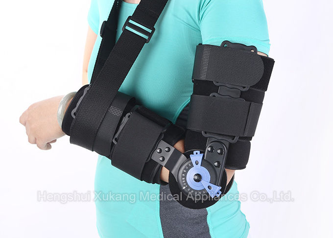 Black Medical Elbow Orthosis S Size Light Weight Design For Patient Comfort