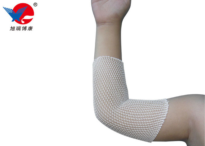 Washable First Aid Medical Equipment For Ankle , Medical Elastic Tubular Net Bandage