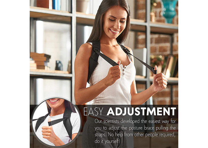 Health Care Magnetic Posture Support Corrector Fully Adjustable Dual Strap Design