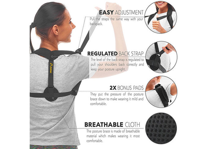 Custom Magnetic Posture Corrector Innovation Product Net Cloth Material